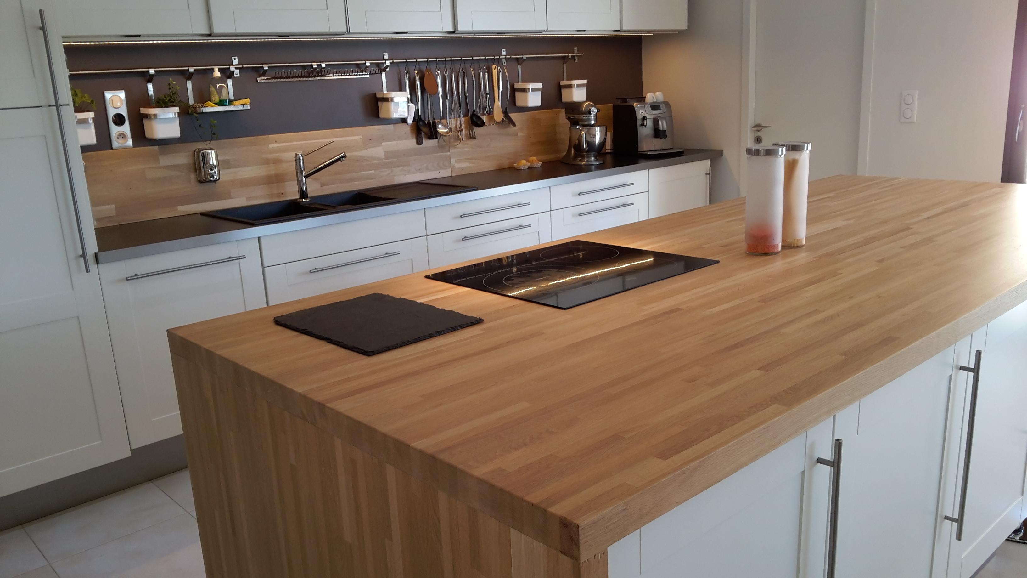 Colle Pour Plan De Travail Cuisine optez pour un plan de travail en bois massif !