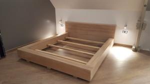 panneau massif en chene pour cadre de lit